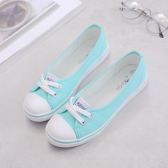 Women shoes canvas shoes comfortable shoes slip-on Korean tide students set foot  flat shoes