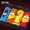 Funny Happy Birds!Mens Cartoon Underwear Bamboo Fiber Panties Large Size M-XXXL Sexy Black Homme Boy Shorts