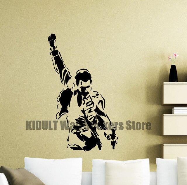Freddie Mercury Wall Decals Metal Rock Music Characters Vinyl ...