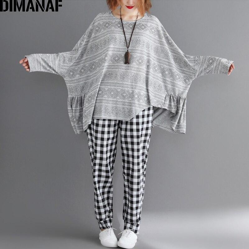 Tops Manga Casual Plus Ropa Mujer Dimanaf Loose Tamaño 2019 Camisa Imprimir 6xl Gran Lth938cn Blusa Verano Vintage De Batwing qvXRnOw