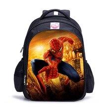 New 16 inch cartoon spiderman brand school bags for boys pupils bag little children's backpack school book bag mochilas