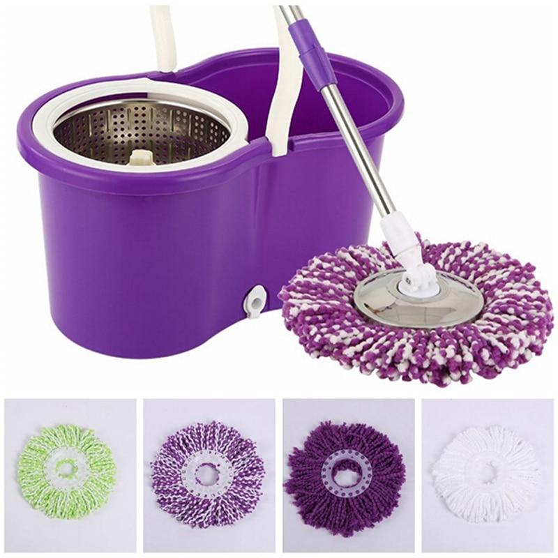 360 градусов вращающийся ткань из микроволокна Замена швабры Кухня Ванная комната супер-абсорбент чистке швабры заменить ткань ej602849