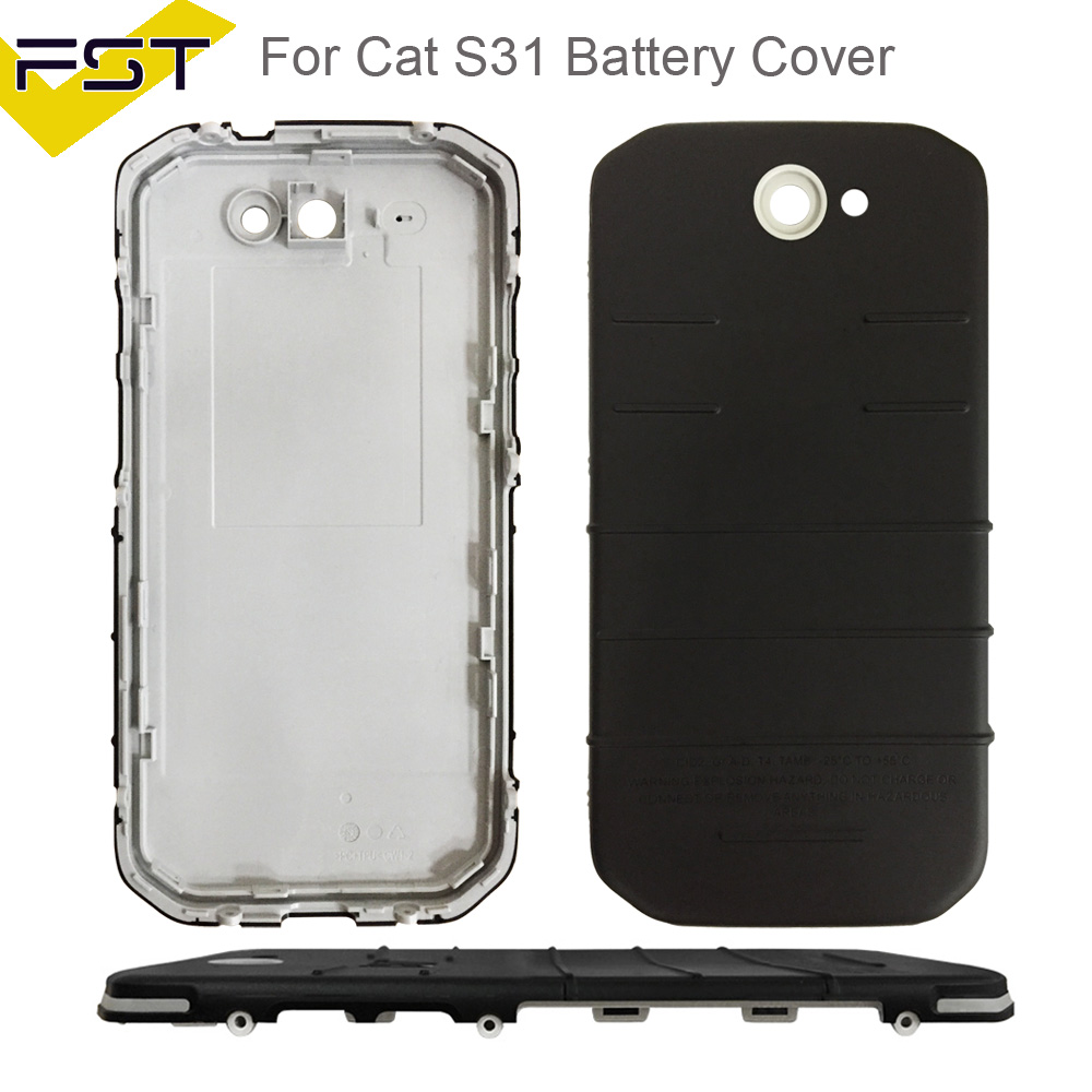 Us 1802 For Caterpillar Cat S31 S 31 Phone Back Frame Battery Cover No Lcd Repair Parts For Cat S31 Back Battery Cover Door Rear Housing In Mobile