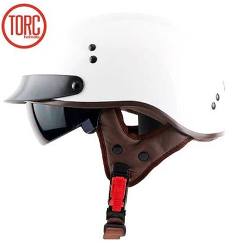 Top Qualität Cruiser Motorrad helm Für Harley Motorrad helm DOT genehmigt witn Inneren schwarz sunglass