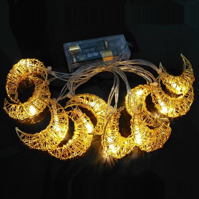 Jiawen 1.6M 10LED Iron Wire Stars Heart-shaped LED String Lights Christmas Festive Room Home Decorative Safty Lights Pendant