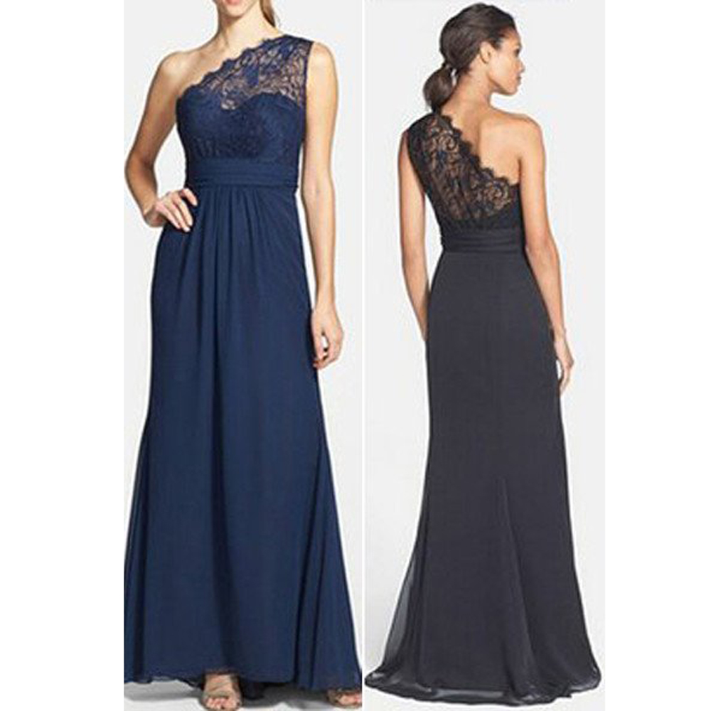 2017 new navy blue bridesmaid dresses maid off honor one for Wedding party dresses 2017