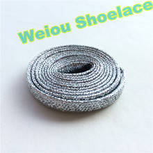 Weiou flat dress shoelaces colored boot laces metallic gold shoelaces white trainer laces cool shoe lacing 120cm/47""
