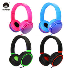 Rockpapa OV982 Stereo Graduate Color Adjustable Foldable Headphones with Microphone for iPhone iPod Smartphones Children Girls