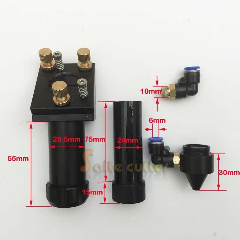NEW Type CO2 Laser Head Mirror Holder Support 50.8mm & 100mm Focal Focus Lens Integrative Mount DIY CNC Router Laser Instrument 28mm usa znse focus lens for co2 laser 127mm focal length co2 laser lens