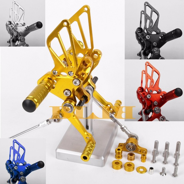 US $97 06 30% OFF 8 Colors CNC Rearsets For Ducati 848 EVO 1098 1098S 1198  1198R All Years Rear Set Motorcycle Adjustable Foot Stakes Pegs Pedal-in