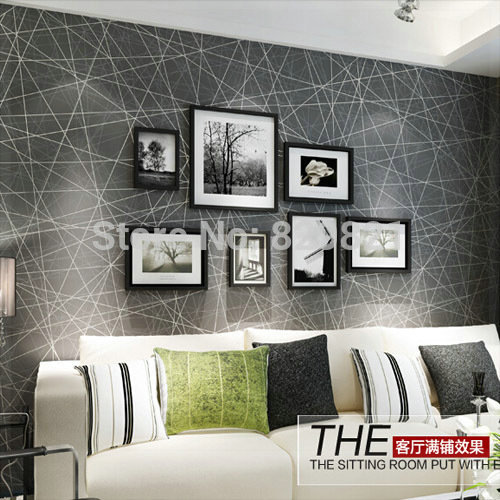 Abstract Wallpaper 3D Modern For Living Room Bedroom Home Decor Flock Wall Paper Geometric Papeis De