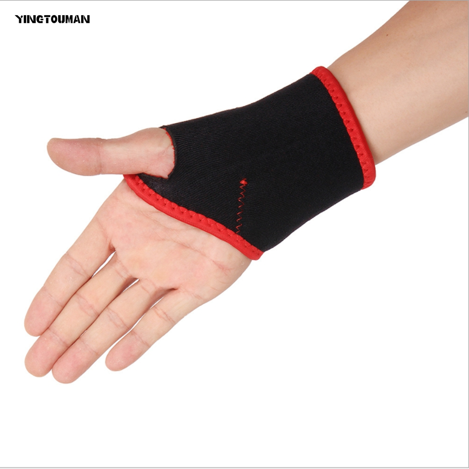 YINGTOUMA 2pcs/lot Weightlifting Wristband Sport Professional Training Hand Bands Wrist Support Straps Wraps Guards For Gym ...