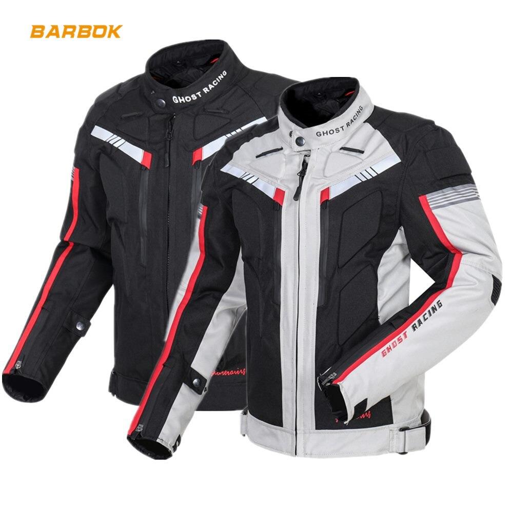 Winter Reflective Motorcycle Jackets Waterproof Windproof Moto Coat Riding Racing Motocross Clothing Protective Gear Set Armor