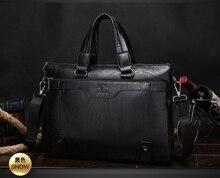 Nouveau 2016 de luxe sacs sacs à main de marque hommes d'affaires d'ordinateur portable D'épaule sac Casual en cuir véritable Hommes sac à main porte-documents