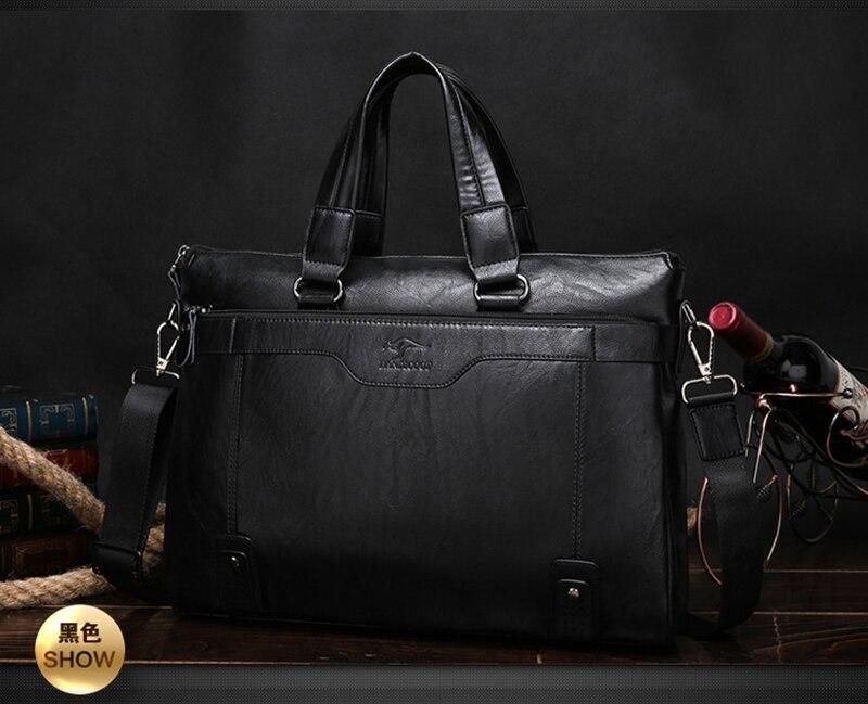 Nuevo  marca de lujo de los hombres de negocios bolsos de cuero portátil bolsa d