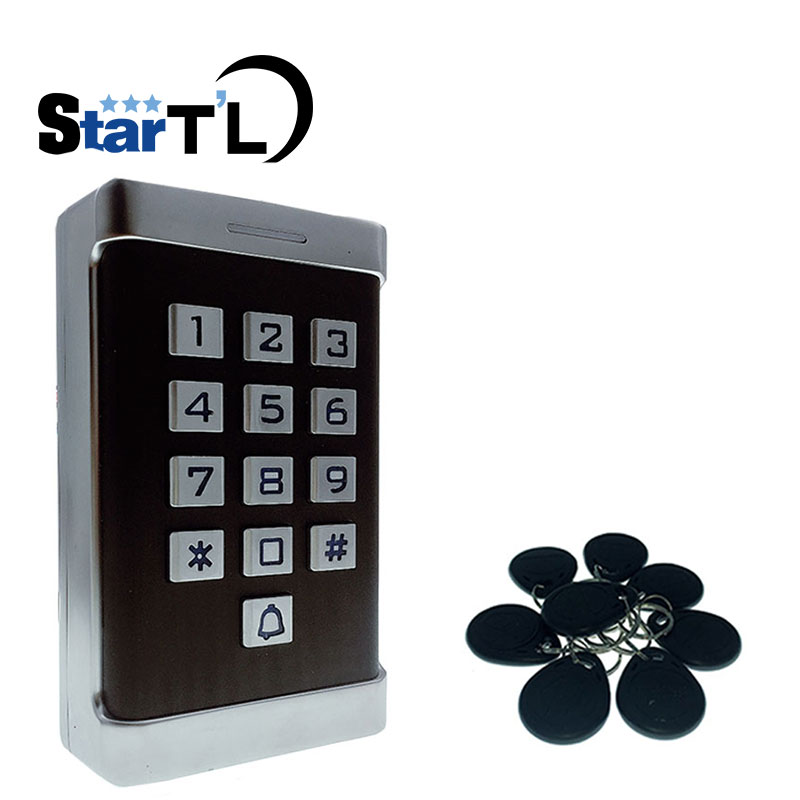 12V 24V Waterproof IP68 Metal Rfid Access Control Standalone 125KHz Card Reader For Door Access Control Wiegand 26 Bit In/Output