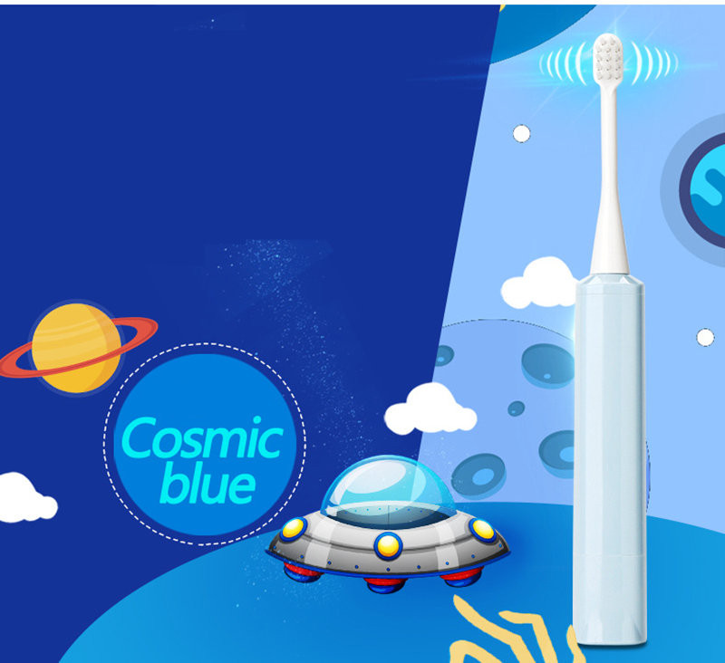 Cartoon Waterproof Kids Electric Sonic Toothbrush Head Ultrasonic Vibrating Teeth Brush Soft Bristle Kids Electric Toothbrush in Electric Toothbrushes from Home Appliances