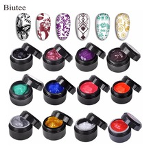 Biutee 12 Colors 8ml  Nail stamping polish gel Pack of  UV LED Gel Polish for nail stamping plate LED UV Farbe Gel Temperature