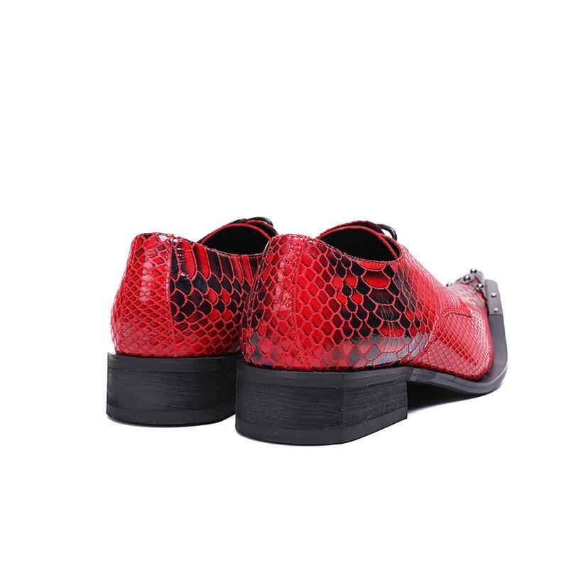 Confortáveis Casamento Sapatas Dos Plana Couro Bar Homens Bordado Características Vestido Rebite Profissional Oxford Vermelho Sapatos Padrão De 7zWwT6cqHf