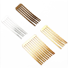 10pcs/lot 50mm 5/10/13teeth Copper Comb Hair Jewelry Charm Women Hairs Findings Barrettes Retro Headwear Wholesale Supplies