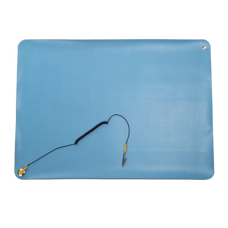 Heat Insulation Silicone Pad Anti Static Mat PC Maintenance Desk Mat Soldering Repair Station + Ground Cord ESD Band 70x50cm anti static electronic maintenance platform table pad esd heat insulation silicone mat for phone bga soldering repair tools
