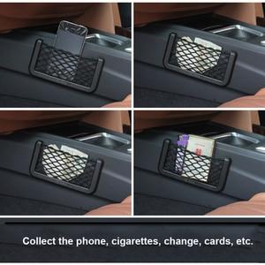 Image 5 - Organizador de bolsillo de malla para Red de Almacenamiento de coche, para smart fortwo, renault clio 2, seat leon fr, renault clio 4, passat b7, toyota