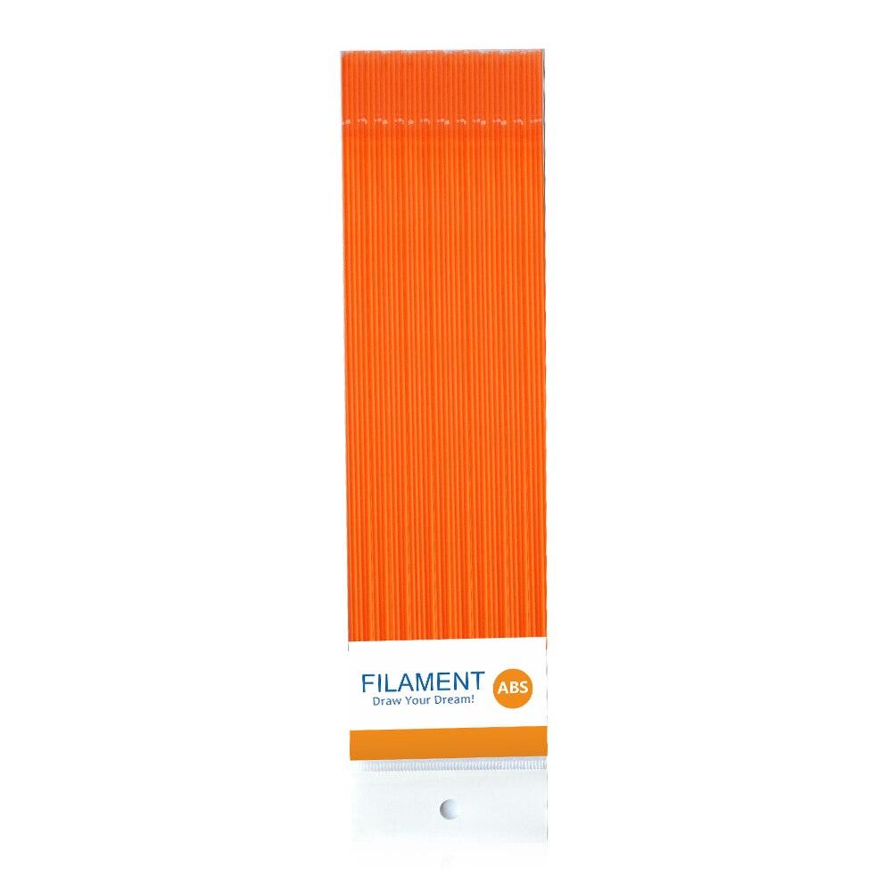 ФОТО 10pcs ABS  linear different colors 3D printer pen filament ABS Filament 3d printing Consumables 40 bars 10meters filament