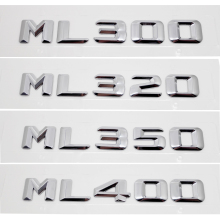 Car Styling For Mercedes ML300 ML320 ML350 ML400 Discharge Capacity Refitting Emblem Sticker For Benz ML Class W163 W164 W166 цена