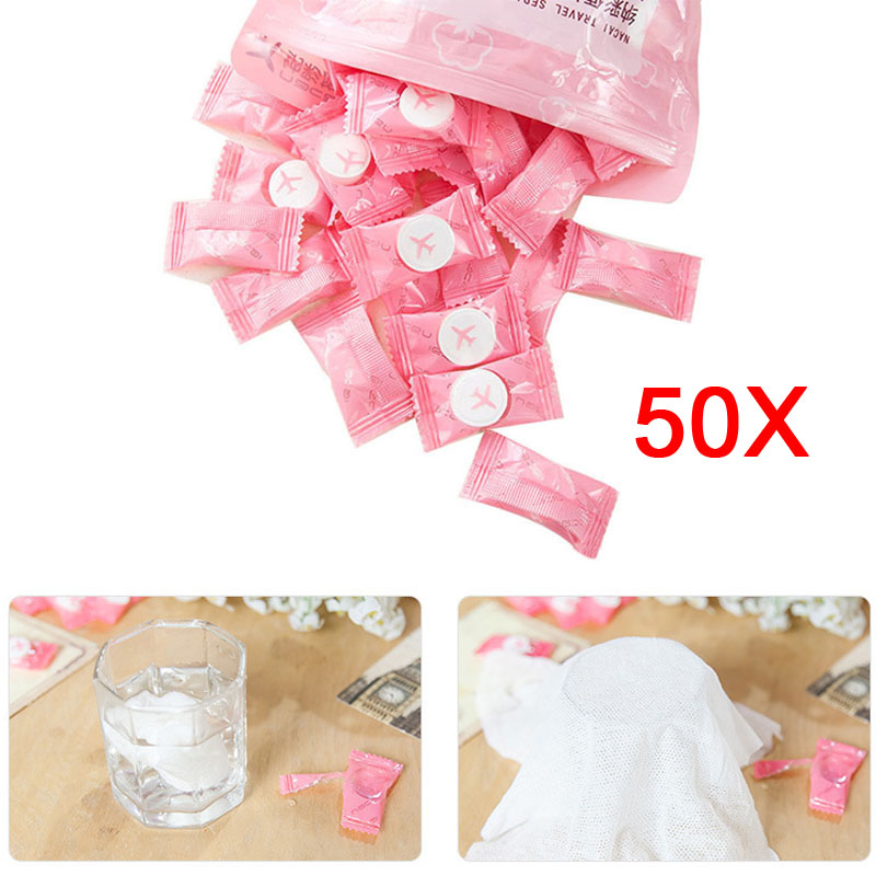 2017 50pcs Disposable Towel  Compressed Towel For Travel Compact Papper DIY Facial Tissue 2017 WH998
