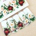 1 листов цветы красоты маникюр переброски вод ногтей наклейки nail art decoration инструменты C