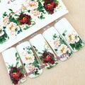1 hojas de flores de belleza de manicura uñas de transferencia de agua pegatinas nail art decoración herramientas C