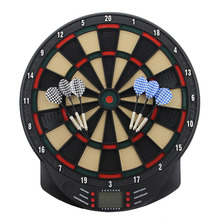 Electronic Darts Board Set Automatic LCD Scoring Display Score Dart Plate Board With Voice 27 Games With 6pcs Soft Darts 15 Inch of 1pc 100 6 20 6t tct scoring blade with oke original carbide tips for scoring aluminum plate alunimun profile