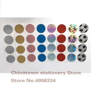"""300pcs 1""""Inch Round Rose Gold Scratch Off Stickers Labels Tickets Promotional Games(China)"""
