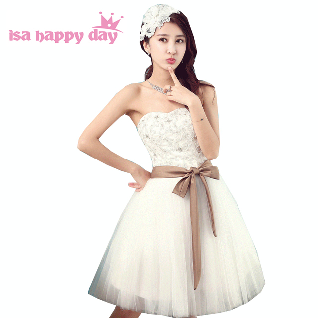 bdbbe179f Teen 8th grado corto sin tirantes corset vestidos de baile de graduación  para niñas dulces 16