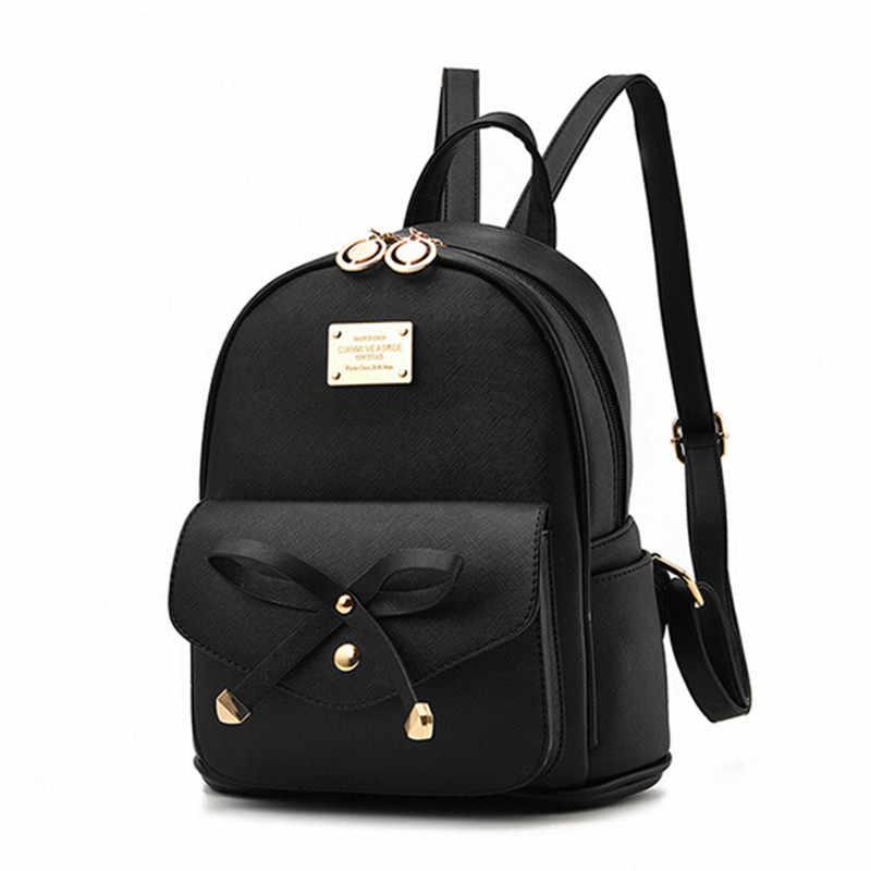 6464b7a472e2 Крутой Уокер модные женские туфли рюкзак для девочек; Новинка рюкзаки  черный рюкзаки женские маленькие девочки