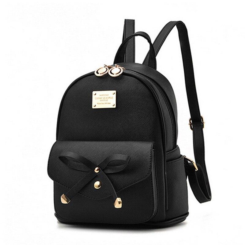 mas bajo precio variedad de diseños y colores nueva colección Mochila de moda para mujer, para niñas, mochila negra ...