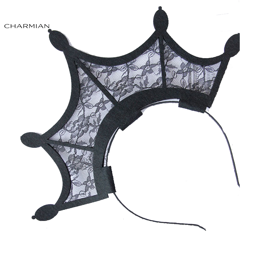 Charmian Women's Bat Wing Crown Carnival Hair Hoop