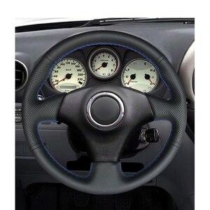 Image 2 - Handsewing Zwart Pu Kunstmatige Lederen Stuurwiel Covers Voor Toyota RAV4 Celica Matrix MR2 Supra Voltz Caldina MR S Corolla