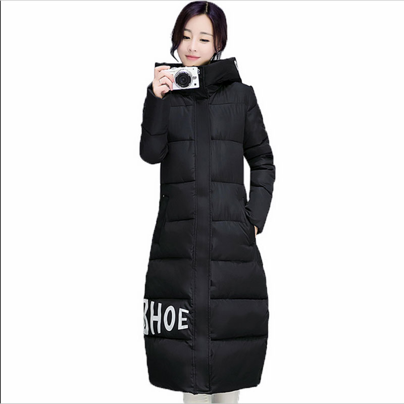 2017 high quality winter long jacket women Warm Thicken cotton coat female outerwear Hooded fashio coats Parka QH0161 2017 women winter cotton jacket long women coat thick hooded collor female warm clothes parka high quality cotton coats qh0377