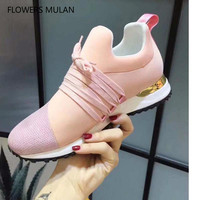 2018 High Quality Famous Brand Luxury Real Leather Women Diamond The Decoration Round Breathable LACES Lace Up Flat Shoes Girl