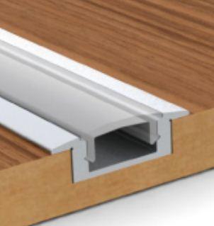 1 m / 3,3 stop hliníkový kanál ve tvaru U pro povrchové a zapuštěné jednořadé LED pásové světlo s opálovým krytem a koncovými kryty Doprava zdarma