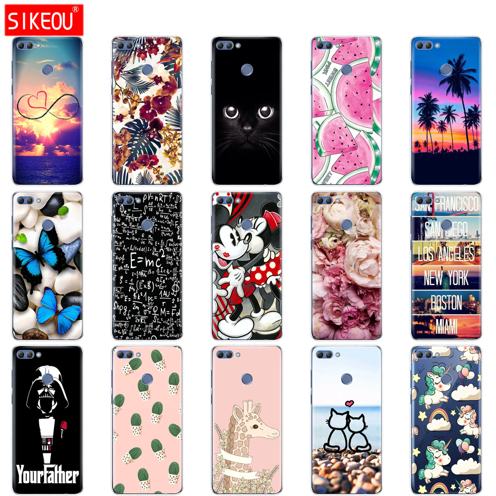 disponibilità nel Regno Unito f6425 b7935 US $1.32 17% OFF|Silicone phone Case For Huawei p smart 2018 Case Cover  Enjoy 7S Case For Psmart Back Cover Full 360 Protective Soft Tpu-in Fitted  ...