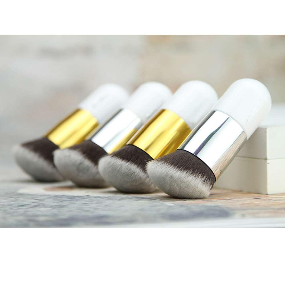 New Chubby Pier Foundation Brush Cream Makeup Brushes Professional Cosmetic Make-up Brush Round Oblique Head