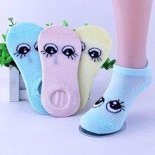 sunnykucy 6Pairs/Lot  Boys Girls Cartoon Baby Socks Summer Children Sock Breathable Cotton Kid Thin