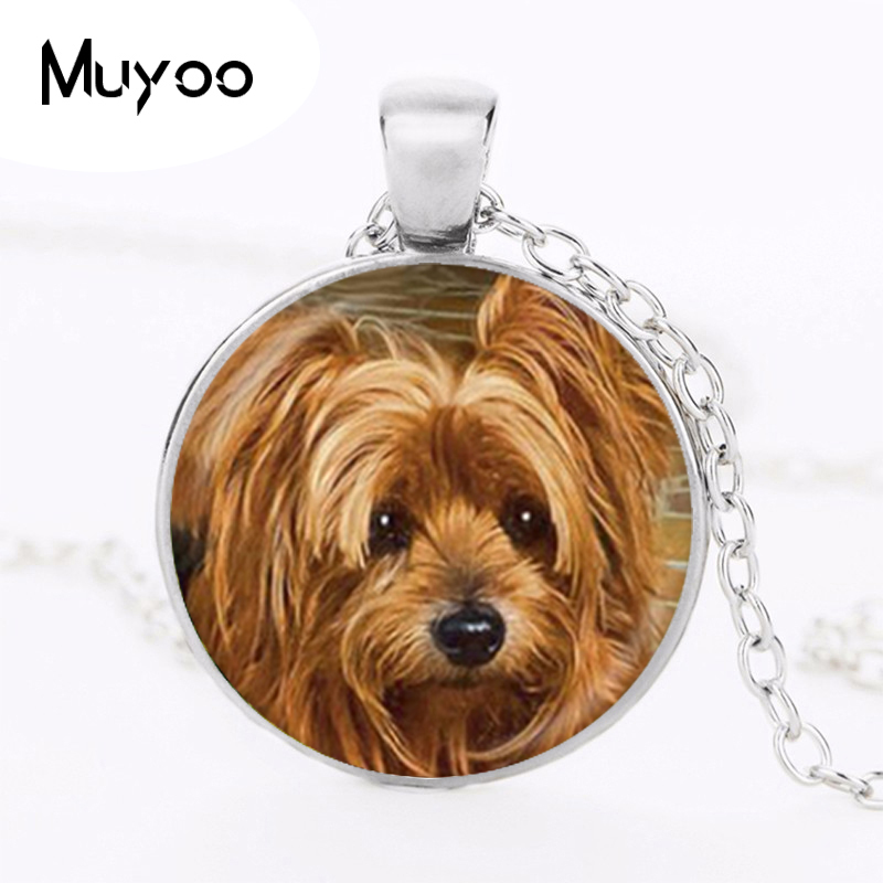 <font><b>AliExpress</b></font> Hot Sale Animal Jewelry Dog Photo Pendant Choker Necklace Men Women Gift For Dog Lover Necklace Puppy Jewellery HZ1 image