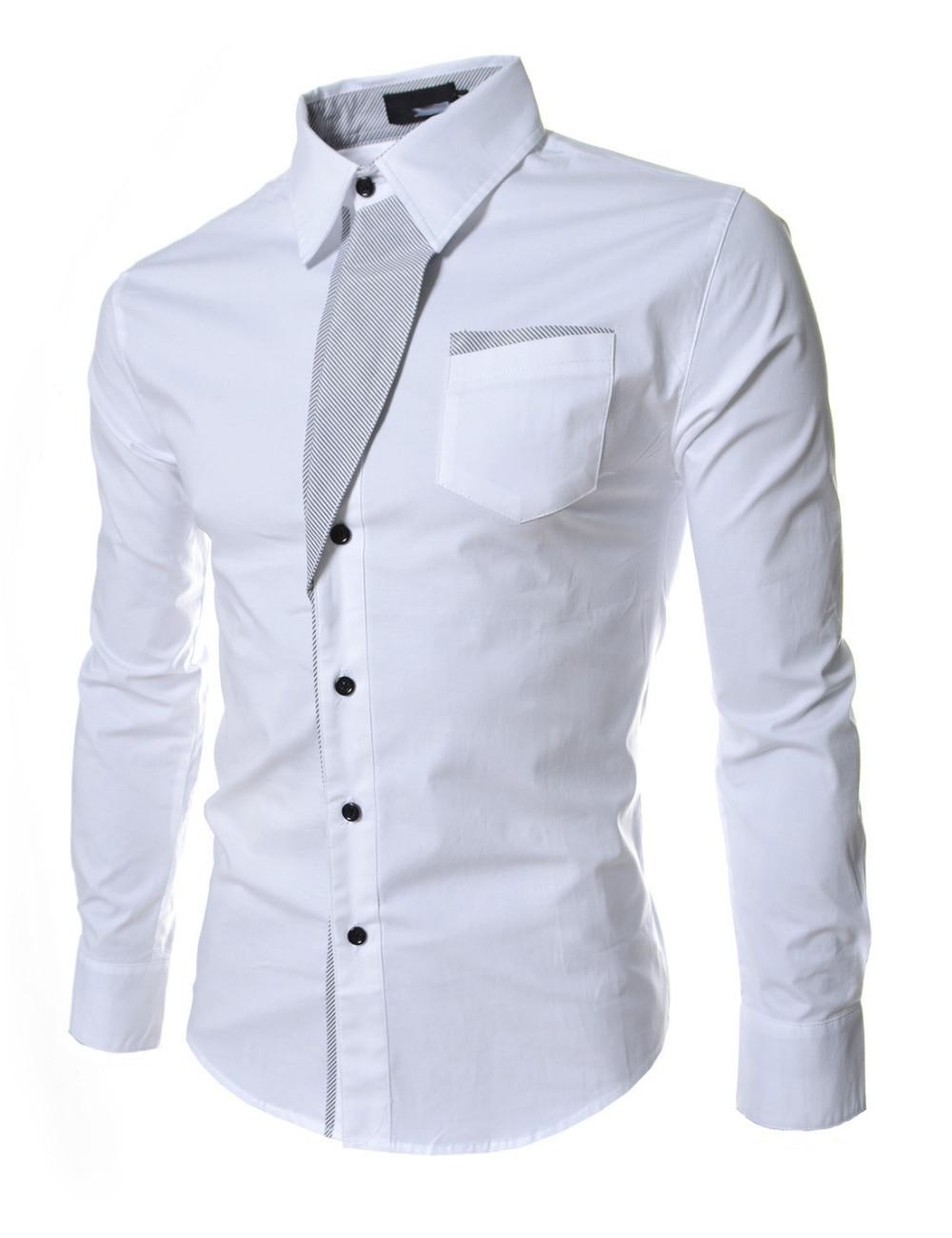 Shirt design gents - Top Sale Mens Stylish Casual Shirt Spring Men Long Sleeve Slim Fit Shirt 2016 Male Wedding