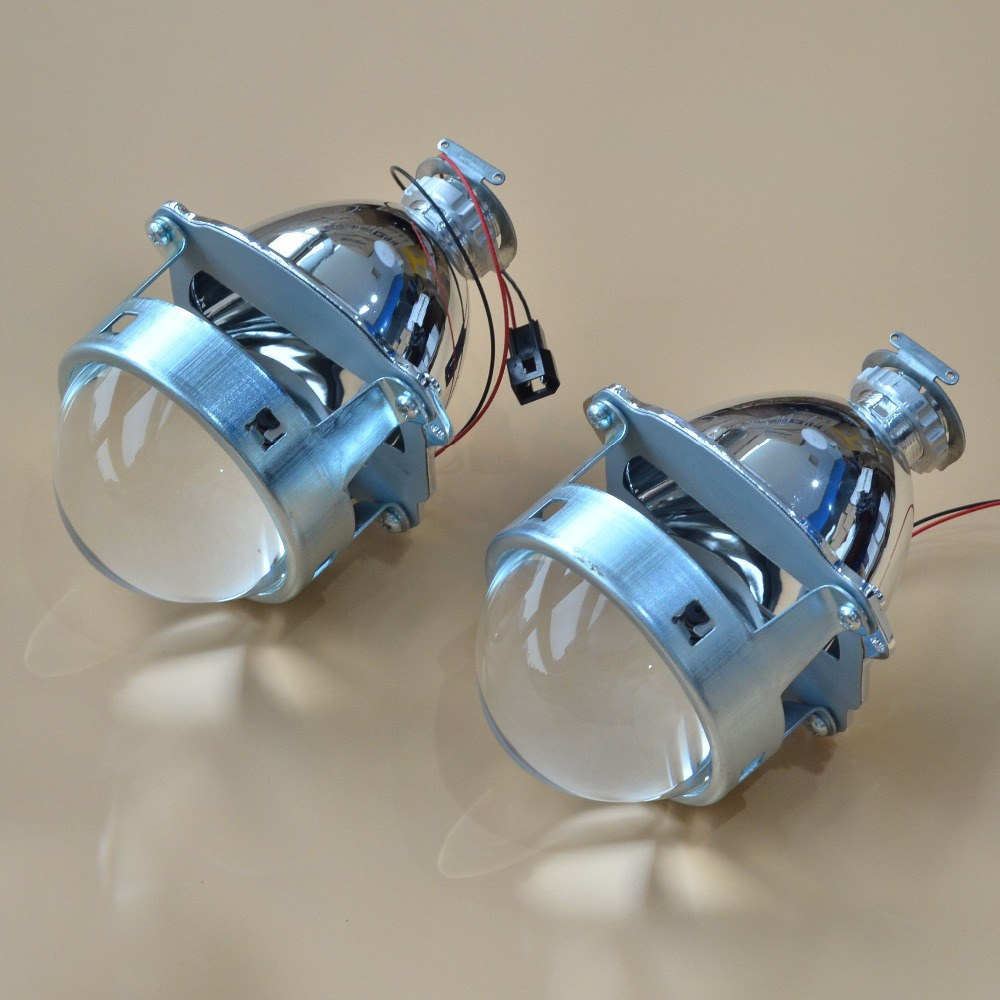 New 3 Inches WST Bi Xenon Projector Lens Using H1 xenon lamp Easy Install for Most Cars Headlight Retrofit Metal Type