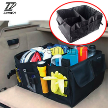 ZD For Volvo S60 V70 XC90 Subaru Forester Peugeot 307 206 308 407 Folding Car Trunk Bag Storage Box Backpack Accessories Holder