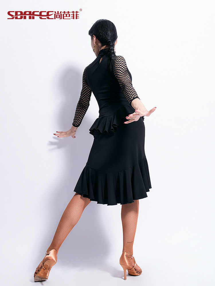 6985699e6 ... new woman Latin Dance Dress Female Long Sleeve Dance Practice ballroom  dance competition dresses ...