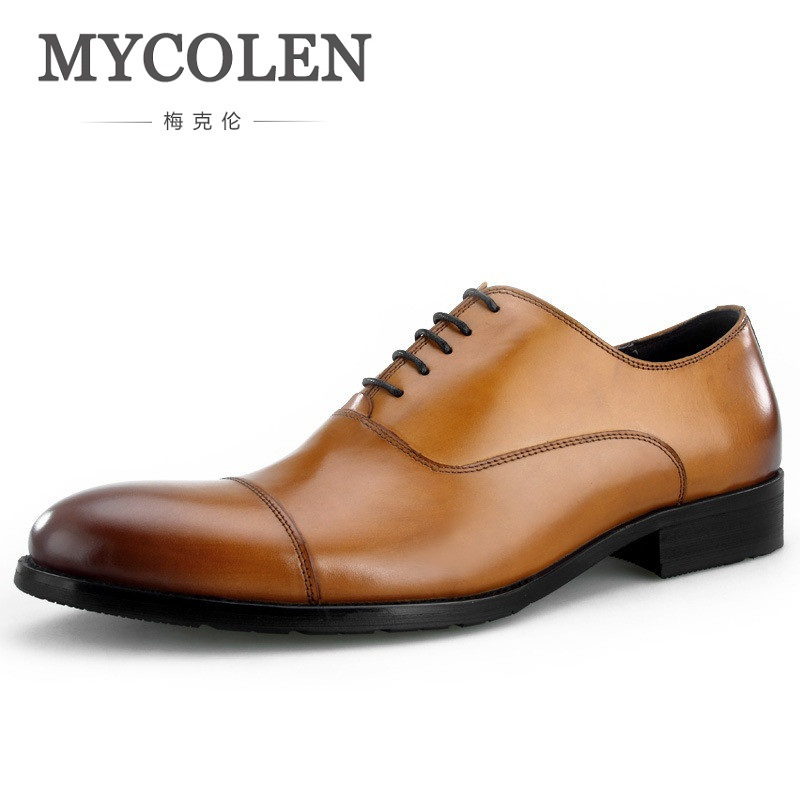 MYCOLEN High Quality Business Men Dress Shoes Classic Luxury Oxford Shoes Pointed Toe Wedding Formal Male Moccasins Shoes mycolen 2018 high quality business dress men shoes luxury designer crocodile pattern formal classic office wedding oxfords